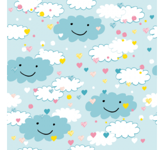 Blue Clouds Removable Wallpaper pattern