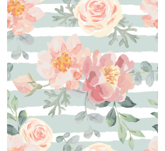 Pale pink roses Removable Wallpaper pattern