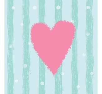 Pink Hearts Removable Wallpaper pattern