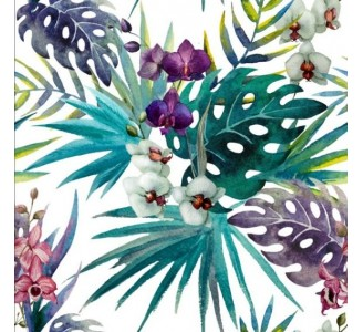 Orchid Leaves Removable Wallpaper pattern