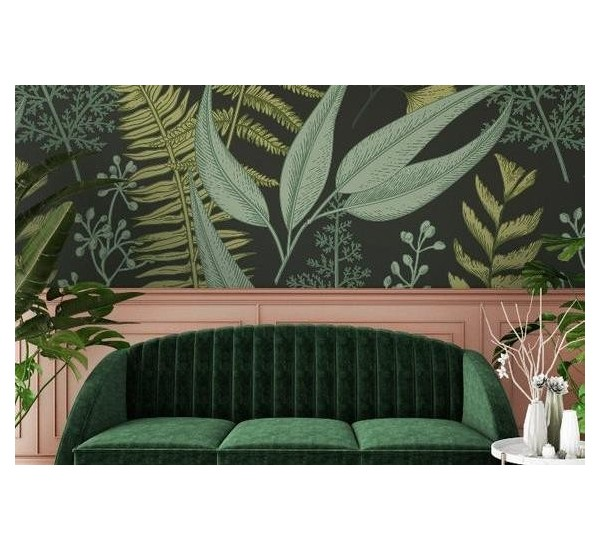 Dark Ferns Removable Wallpaper