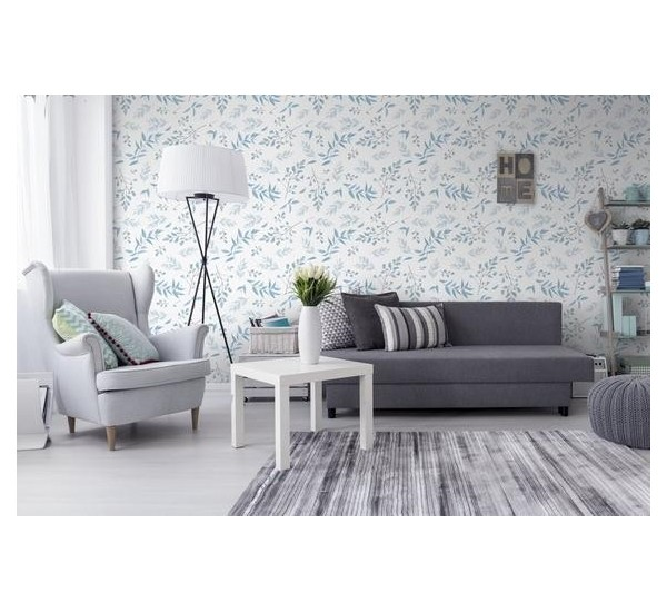 Blue Herbs Removable Wallpaper