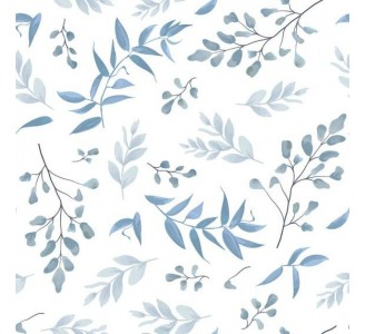 Blue Herbs Removable Wallpaper pattern