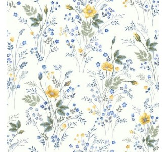 Spring Flawers Removable Wallpaper pattern