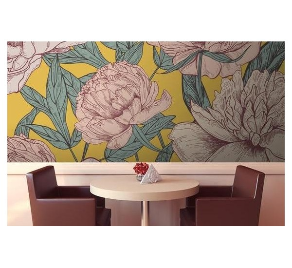 Blossom Peonies Removable Wallpaper