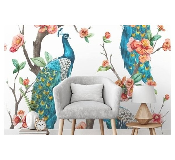 Peacock Removable Wallpaper