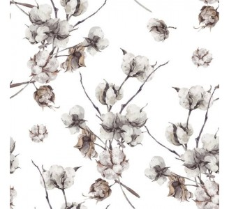 Cotton Flowers Removable Wallpaper pattern