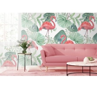 Exotic Flamingo Removable Wallpaper