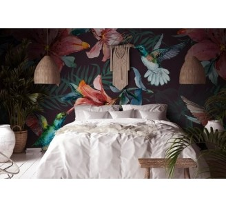 Red Lily Removable Wallpaper
