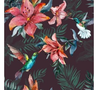 Red Lily Removable Wallpaper pattern