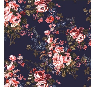 Pink Roses Removable Wallpaper pattern