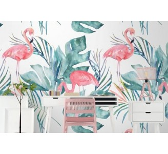 Lovely Flamingo Removable Wallpaper