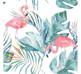 Lovely Flamingo Removable Wallpaper pattern