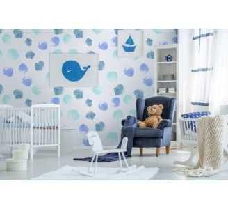 Watercolor Dots Removable...
