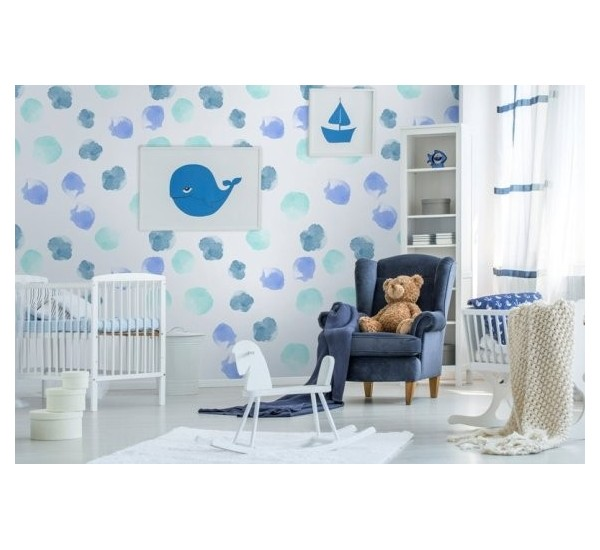 Watercolor Dots Removable Wallpaper