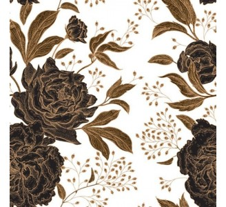 Vintage Peony Removable Wallpaper pattern