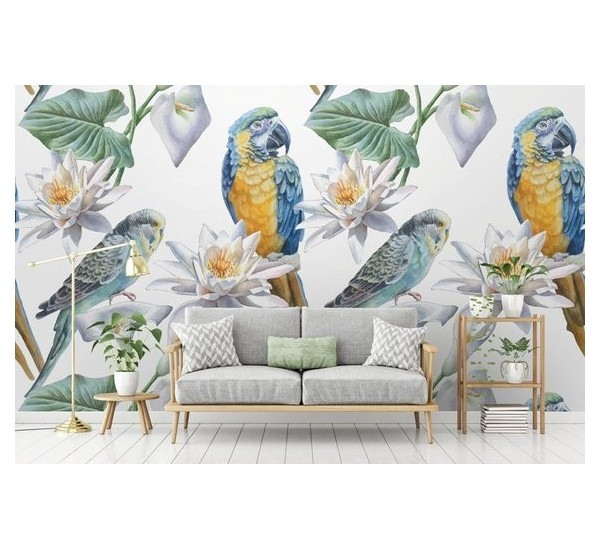 Exotic Parrot Removable Wallpaper