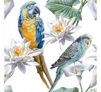 Exotic Parrot Removable Wallpaper pattern