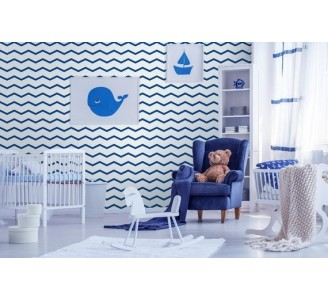 Blue Waves Removable Wallpaper