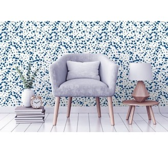 Navy Dots Removable Wallpaper