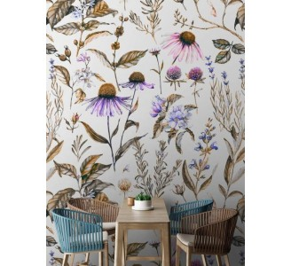 Meadow Flowers Removable Wallpaper full view