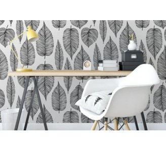 Decorative Leaves Removable Wallpaper