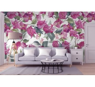 Pink Oleander Removable Wallpaper