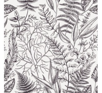 Botanical Vintage Removable Wallpaper pattern