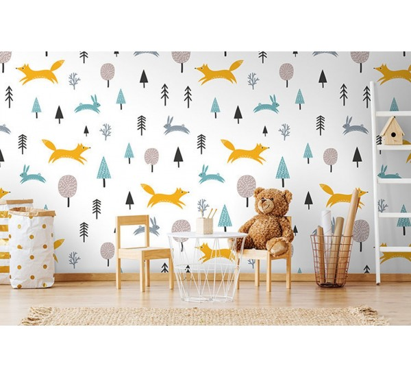 Forest Life Removable Wallpaper