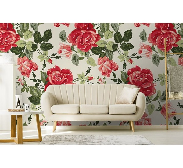 Fancy Roses Removable Wallpaper