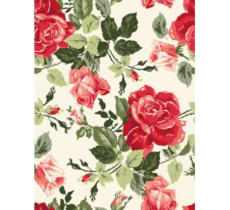 Fancy Roses Removable Wallpaper pattern