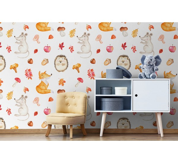 Cartoon Autumn Removable Wallpaper