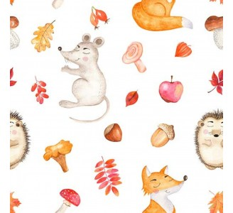 Cartoon Autumn Removable Wallpaper pattern
