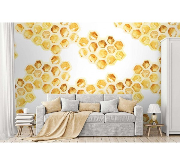 Honeycombs Removable Wallpaper