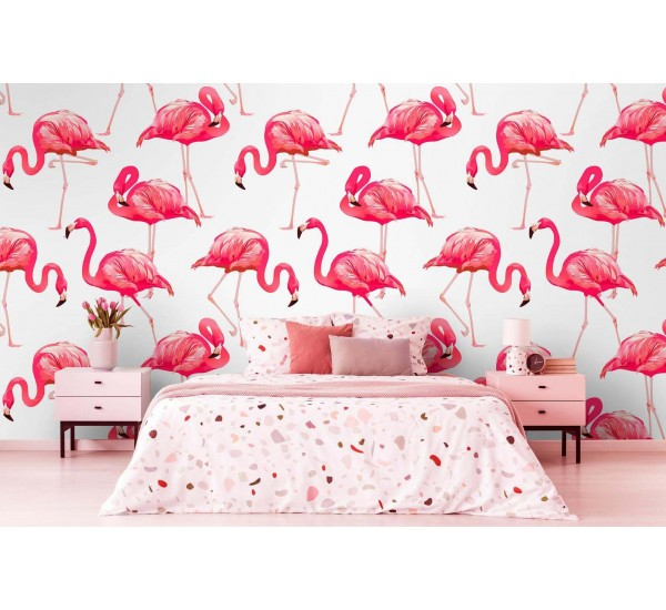 Pink Flaming Removable Wallpaper