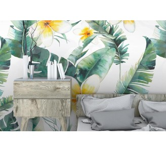 Hawaii Flowers Removable Wallpaper