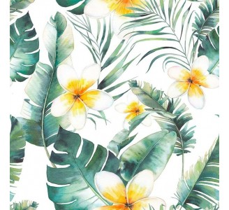 Hawaii Flowers Removable Wallpaper pattern