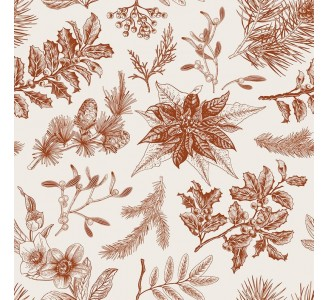 Forest Floral Removable Wallpaper pattern