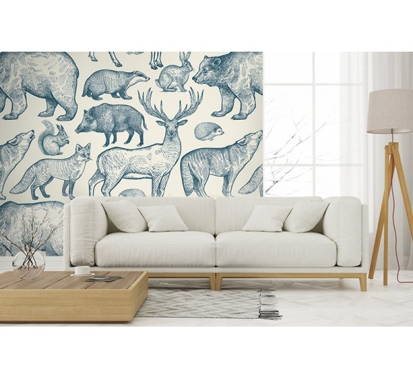 Forest Animals Removable Wallpaper