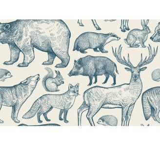 Forest Animals Removable Wallpaper pattern