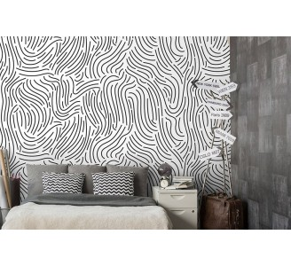 Curved Lines Removable Wallpaper