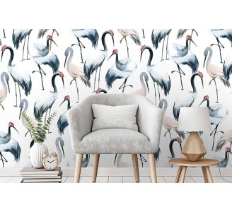 Watercolor Storks Removable Wallpaper