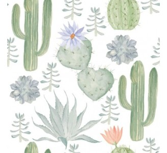 Watercolor Cactus Removable Wallpaper pattern