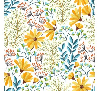Vintage Colorful Nature Removable Wallpaper pattern
