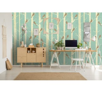 Vintage Birds Removable Wallpaper