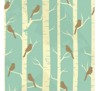 Vintage Birds Removable Wallpaper pattern