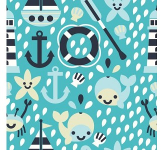 Sailor Life Removable Wallpaper pattern