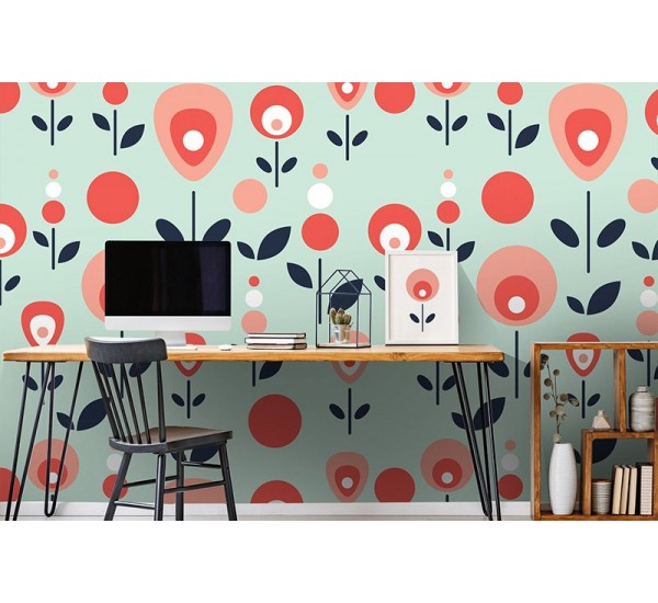 Cute Flowers Removable Wallpaper