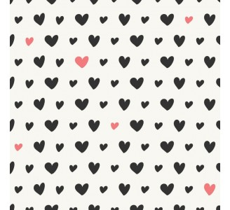 Oasis of Hearts Removable Wallpaper pattern