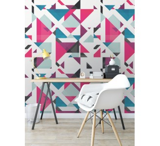 Geometric Dream Removable Wallpaper full view